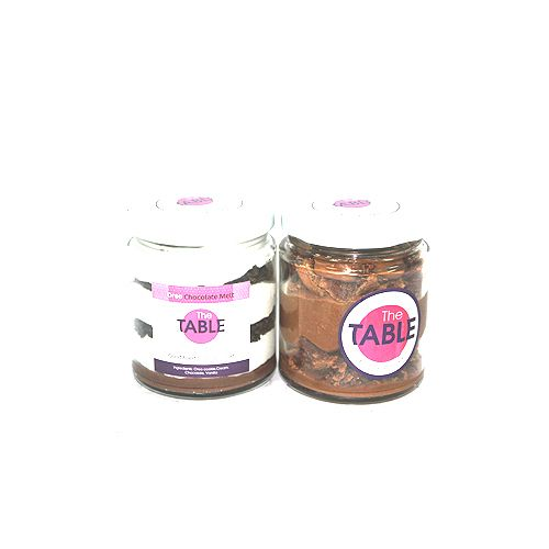 The Table Cake - Oreo Chocolate Melt & Macaroon Jar Combo, 300 g Pack of 2 Jars