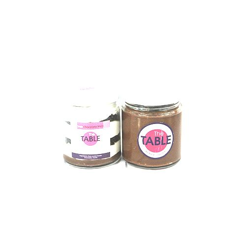 The Table Cake - Oreo Chocolate Melt & Sin Azucar  Combo, 300 g Pack of 2 Jars