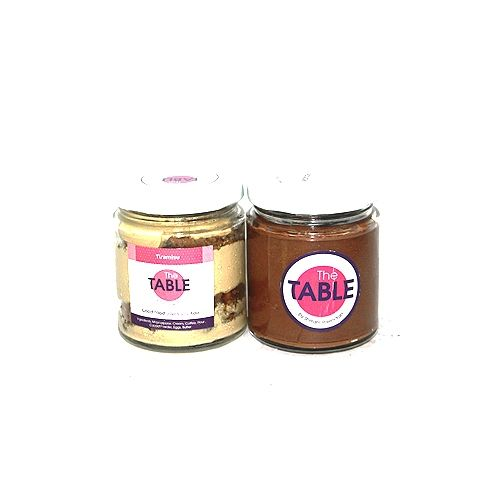 The Table Cake - Tiramisu & Sin Azucar  Combo, 300 g Pack of 2 Jars