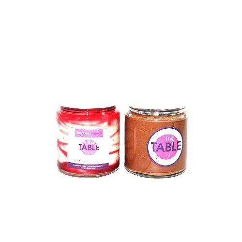 The Table Cake - White Chocolate Raspberry & Sin Azucar  Combo, 300 g Pack of 2 Jars