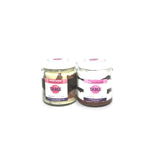 The Table Cake - Molten Orange Tart & Oreo Chocolate Melt  Combo, 300 g Pack of 2 Jars