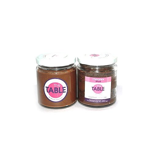 The Table Cake - Sin Azucar&Chocolate Mud  Combo, 300 g Pack of 2 Jars