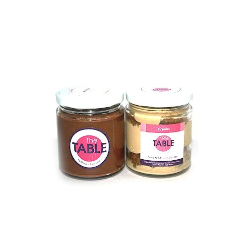 The Table Cake - Sin Azucar & Tiramisu  Combo, 300 g Pack of 2 Jars