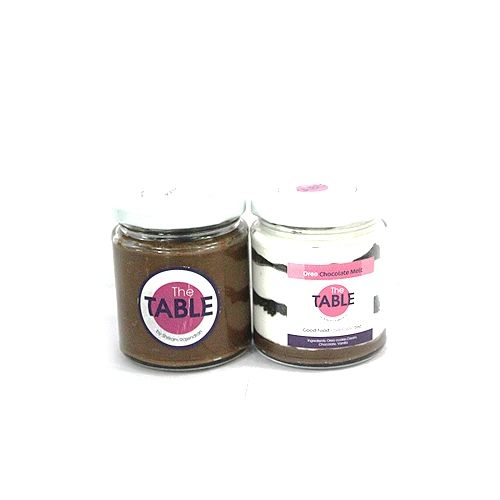 The Table Cake - Sin Azucar & Oreo Chocolate Melt  Combo, 300 g Pack of 2 Jars