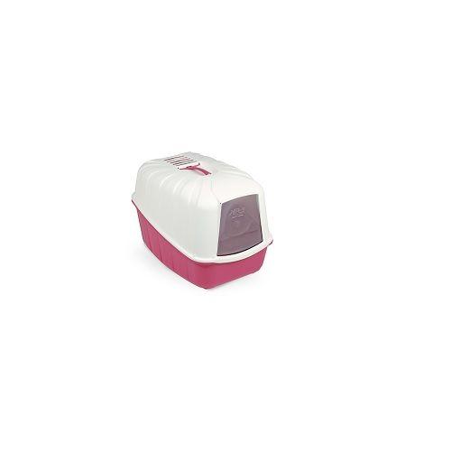 Pets 101 Pet Accessories - Komoda Cat Litter Tray - Pink, 57x40x36h