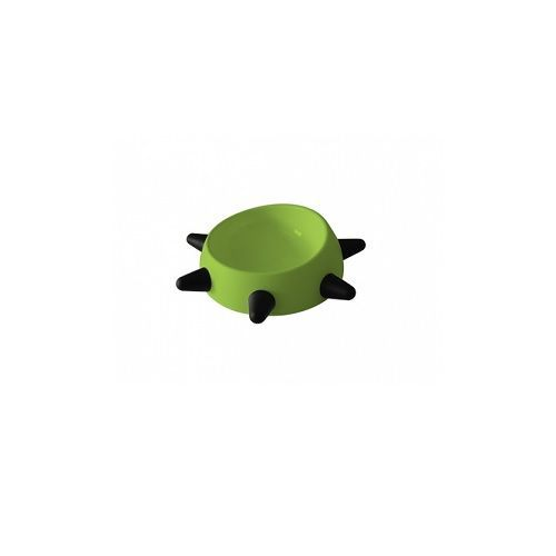 Pets 101 Pet Accessories - Boss Bowl With Black Spikes - Green, 500 ml