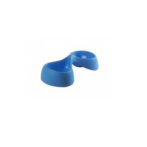 Pets 101 Pet Accessories - Bicio Double Bowl  - Light Blue, Medium