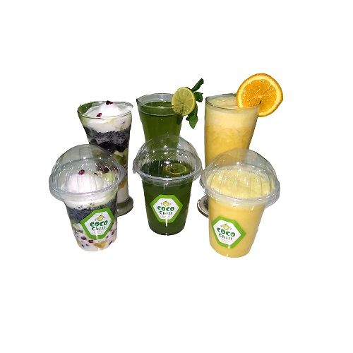Coco Chill Refreshing Drinks - Coco Mint + Orange Smoothie + Mixed Fruit Falooda (each), 300 ml