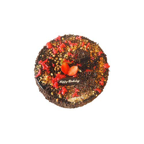 THE CAKE FACTORY Fresh Cake - Choco Nuts, Eggless, 1 kg