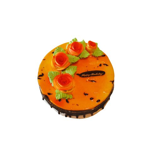 THE CAKE FACTORY Fresh Cake - Mango, Eggless, 1 kg