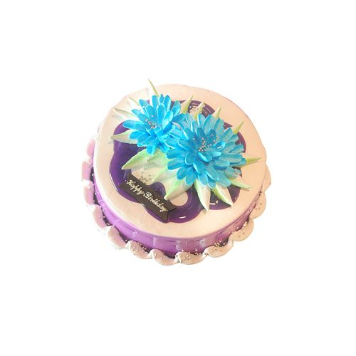 THE CAKE FACTORY Fresh Cake - Black Current, Eggless, 1 kg