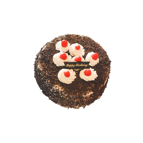 THE CAKE FACTORY Fresh Cake - Black Forest, Eggless, 1 kg