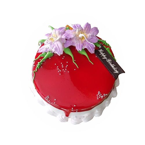 THE CAKE FACTORY Fresh Cake - Strawberry, With Egg, 1 kg