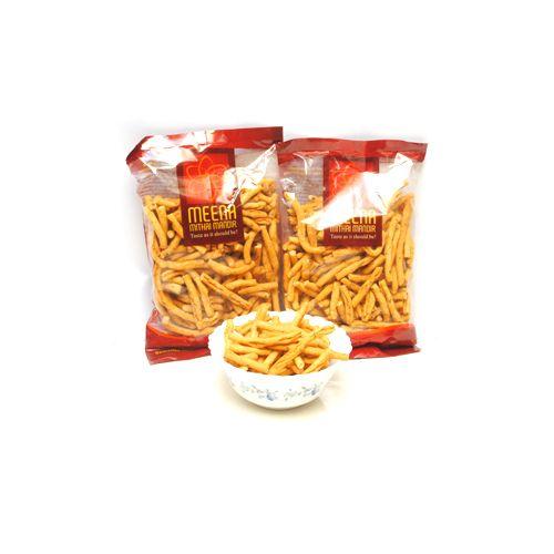 Meena mithai Mandir Namkeen - Garlic / Lasan Sev, 480 g Pack of 3