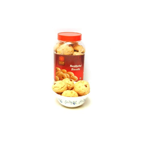 Meena mithai Mandir Namkeen - Naankhatai Biscuits, 1 kg Pack of 2