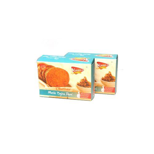 KAMLESH FOODS Namkeen - Methi Bajra Puri ( Hand Cooked ), 600 g Box
