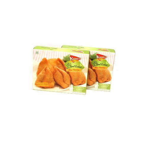 KAMLESH FOODS Namkeen - Mini Samosa ( Hand Cooked ), 600 g Box
