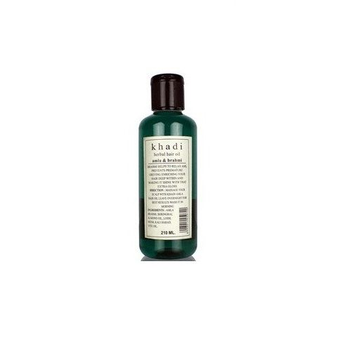 Khadi Organic - Khadi Amla & Brahmi, 210 ml Pack of 2