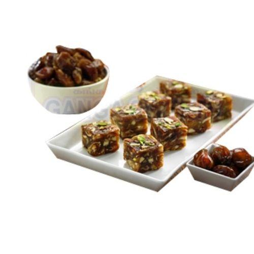 Ganga Sweets Sweets - Dates Burfi - 1000Gm, 1 kg