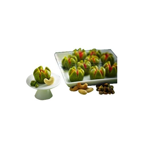 Ganga Sweets Sweets - Kaju Pistha Flower - 500Gm, 500 g