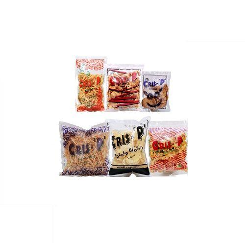 Cris-P Snacks - Potato Wafers Salt + Pepper Thattai +  Ribbon +  Corn Flakes + Tapico Thins + Flyers, 100+100+100+100+200+50 g Combo - 3