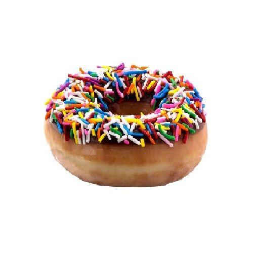 Krispy Kreme Doughnuts Doughnut - Chocolate Iced With Sprinkles, 4 pcs Pack of 1