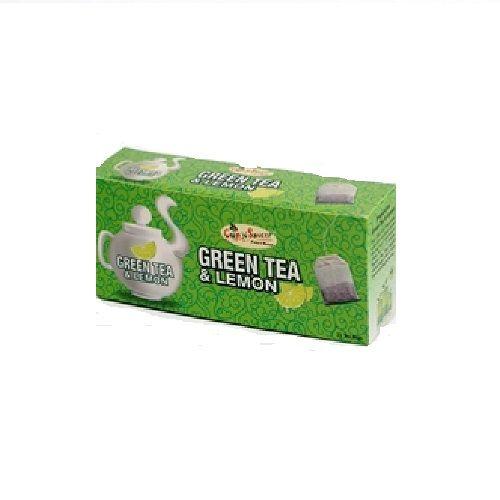 Cup N Saucer Green Tea & Lemon, 50 bags