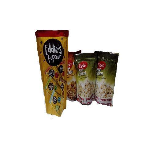 Eddies's Popcorn - Butter Salt & Khatta Meetha & Guntur Chilli, 150 gm Multipack