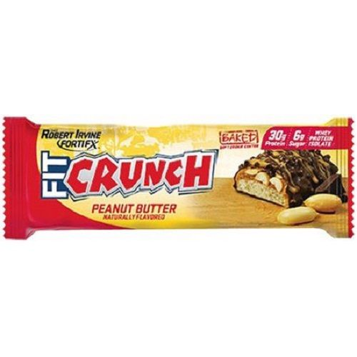 Fitcrunch Bars 88G - Peanut Butter, 12 pcs