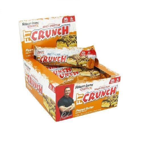 Fitcrunch Bars 46G - Peanut Butter, 12 pcs