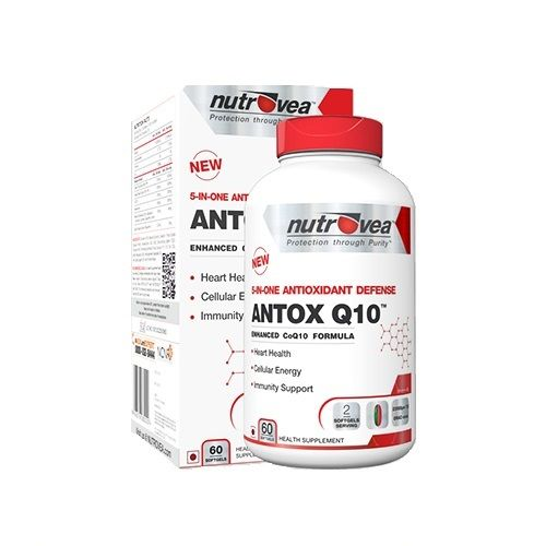 NUTROVEA Antox - Q10 - The Ultimate Antioxidant, 60 softgels