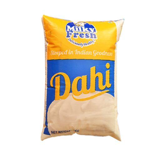 Milky Fresh  Dahi / Curd / Yogurt Pouch, 1 kg