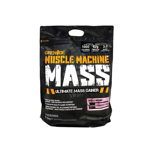 Grenade Muscle Machine Mass - Strawberry, 12.6 lbs
