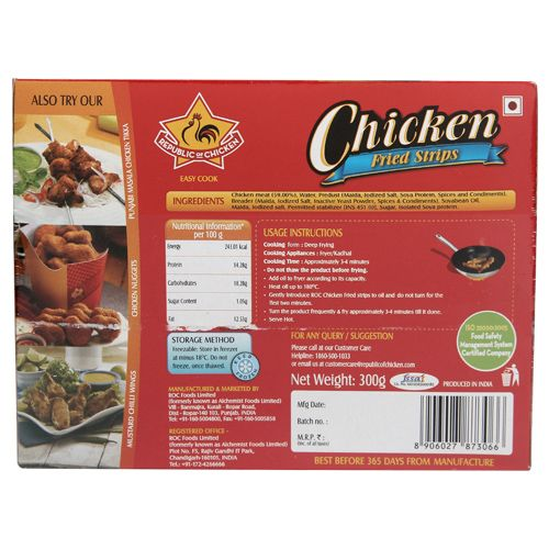 Republic of Chicken Fried Strips - Chicken, 300 gm