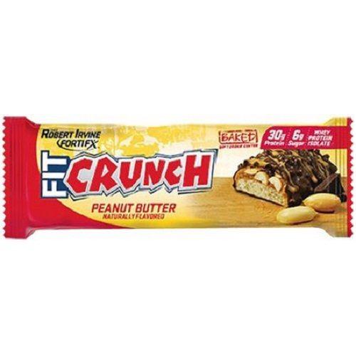 Fitcrunch Bars 88G - Peanut Butter, 12 pcs