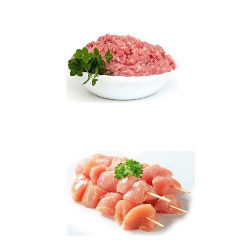 JK Chicken 100% Halal Chicken Combo - Kheema 250 gms + Cubes 250 gms, 1 pc