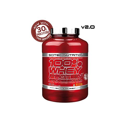 SCITEC 100% Whey Professional V2.0 - 30G Protein - Chocolate, 5 lbs