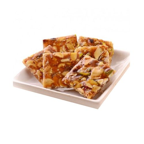 Jain Biscuit Centre Sweets - Dry Fruit Chikki Cube, 200 g