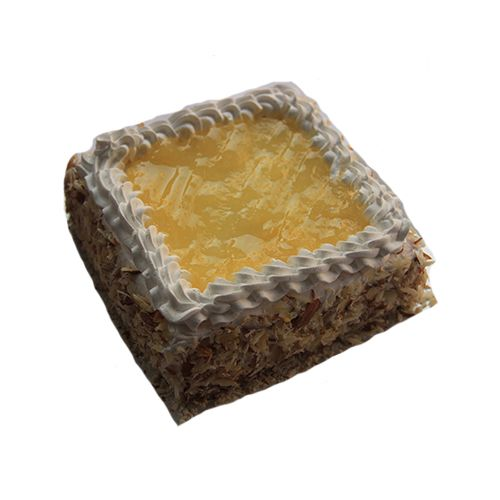 Theobroma Fresh Cake - Fresh Cream Pineapple, Eggless, 500 g