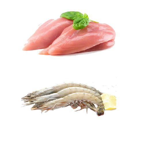 Fresh n Fresh Combo - Chicken Boneless & Prawns, 1 kg Tray