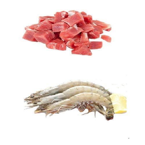 Fresh n Fresh Combo - Mutton Currycut With Bone & Prawns, 1 kg Tray