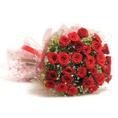 Blooms & Bouquets Flower Bouquet - 30 Charming Red Rose, 1 pc Cellophane Packing