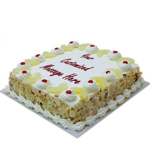 Just Bake Fresh Cake - Pineapple, Eggless, 4 kg