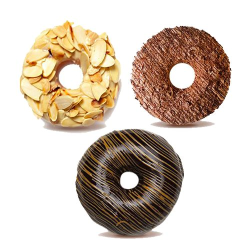 Sanjos Donuts & Milkshakes Assorted - 3 Donuts, 3 pcs