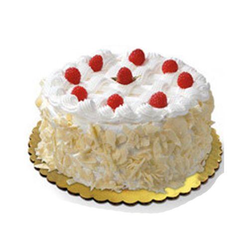 Cake castle Fresh Cake - White Forest, Eggless, 1 kg