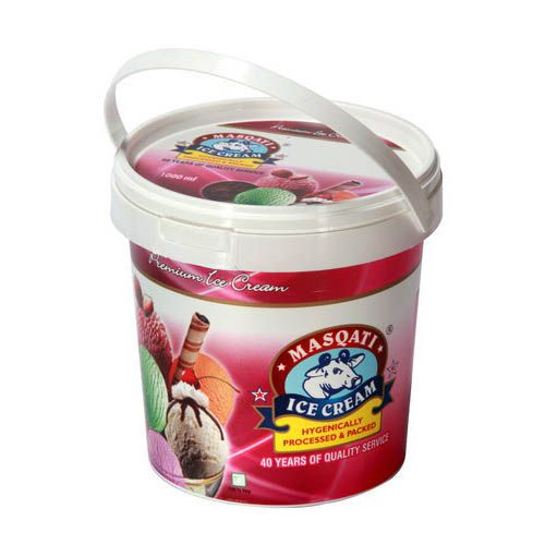 Masqati Ice Cream Ripples - Strawberry, 1 L