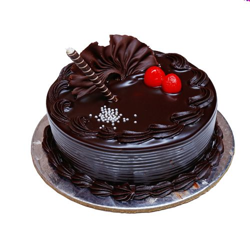 Brown Bear Fresh Cake - German Black Forest, Eggless, 1 kg