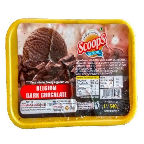Scoops Ice Cream - Belgium Dark Chocolate, 540 g