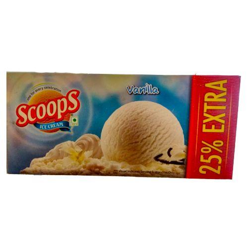 Scoops Ice Cream - Vanilla, 657 g