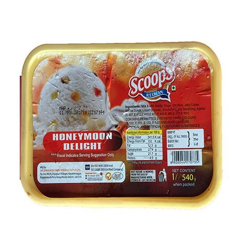 Scoops Ice Cream - Exotic Honey Moon Delight, 4 L